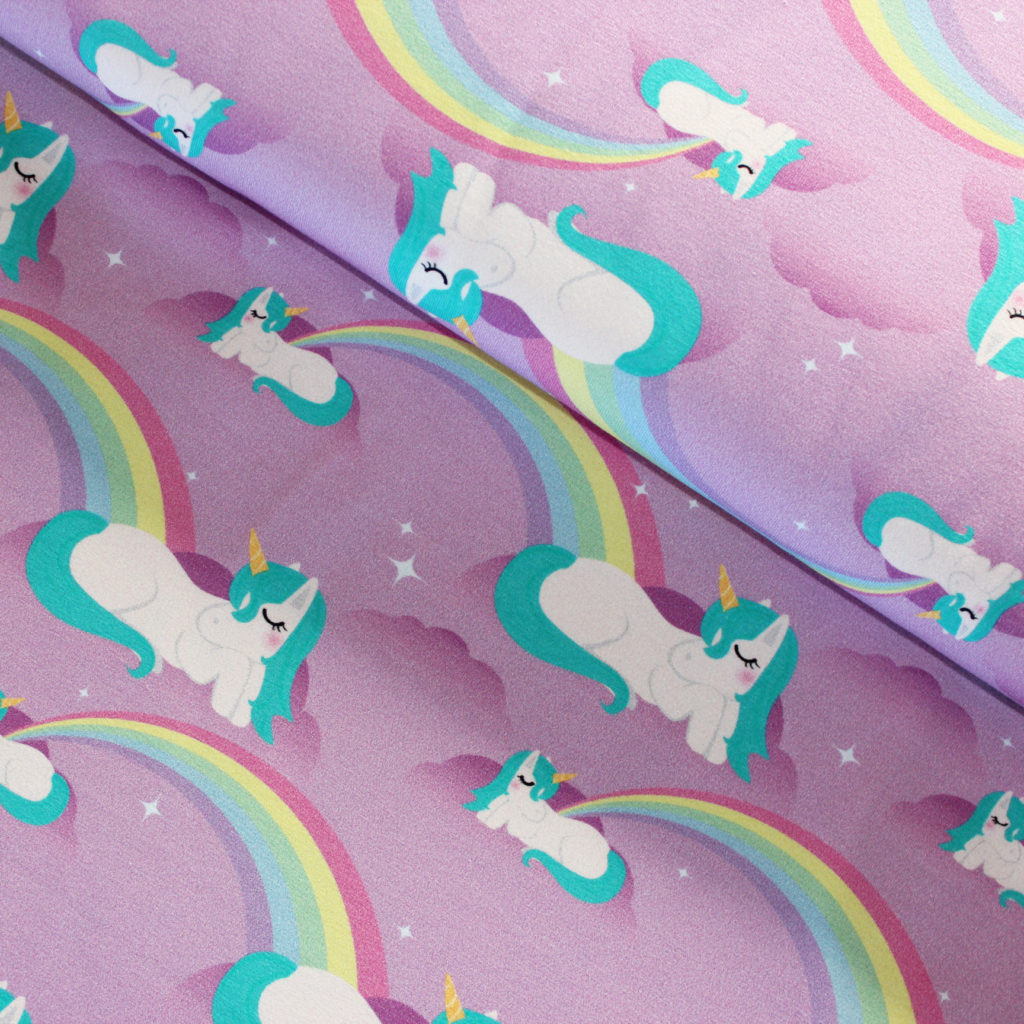 unicorns jersey fabric