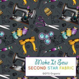 sewing theme jersey fabric
