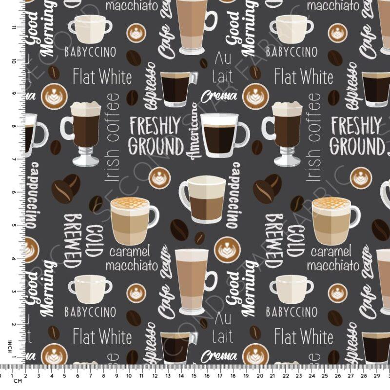 coffee jersey fabric