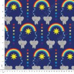elephants jersey fabric