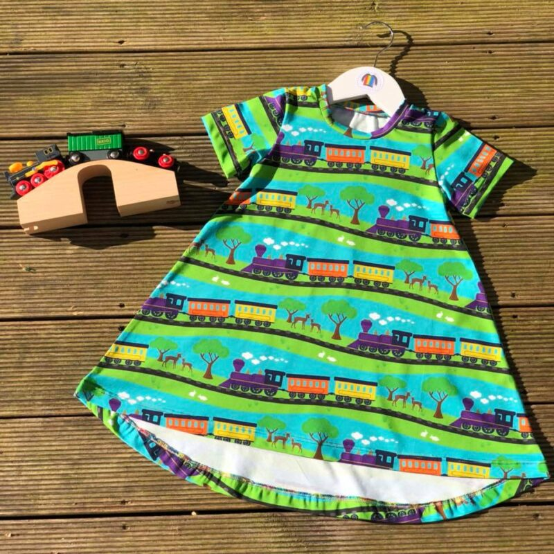 trains jersey fabric