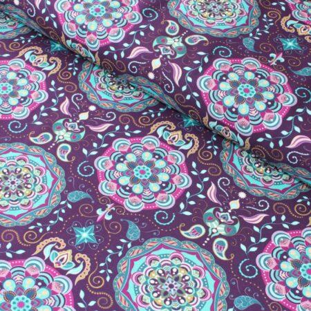 mandala jersey fabric