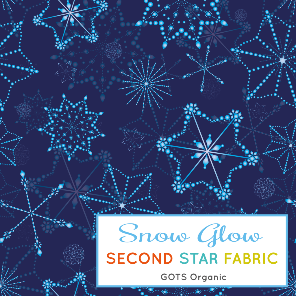 snowflakes jersey fabric