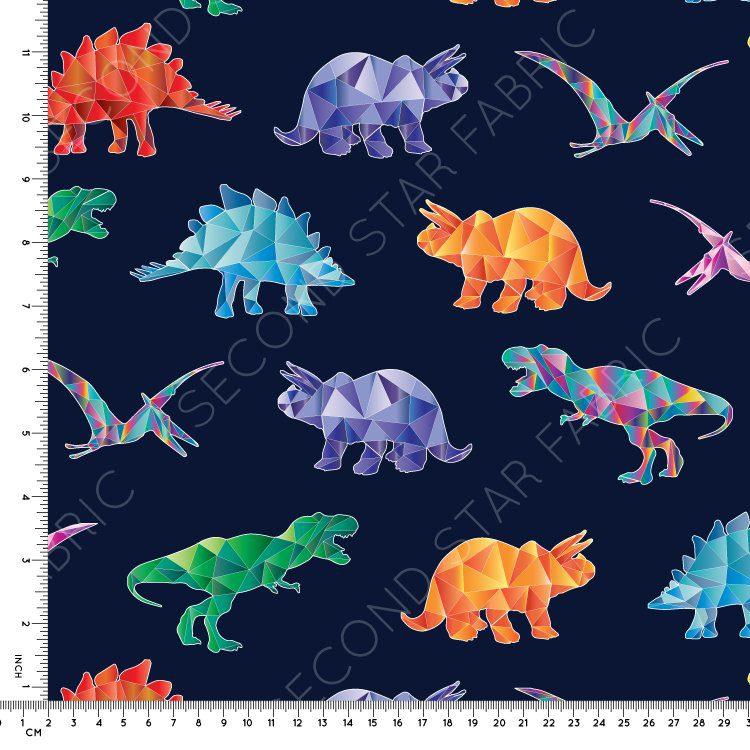 Dinosaur jersey fabric