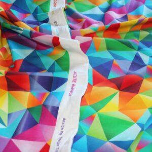 rainbow geometric organic fabric
