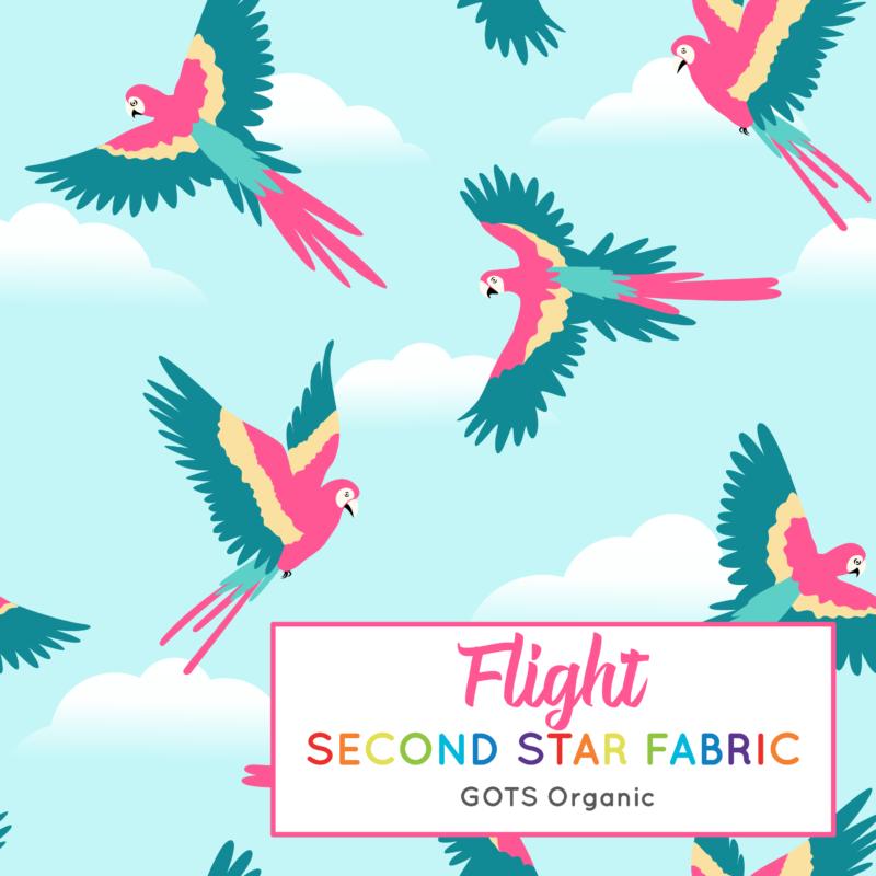 Parrots organic jersey fabric
