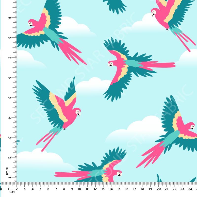 Birds jersey fabric