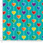 hearts jersey fabric