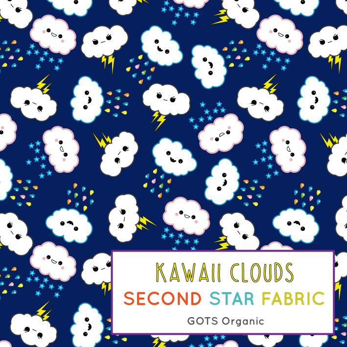 clouds jersey fabric
