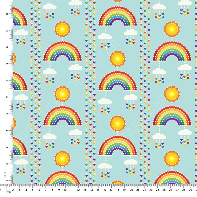 rainbows jersey fabric