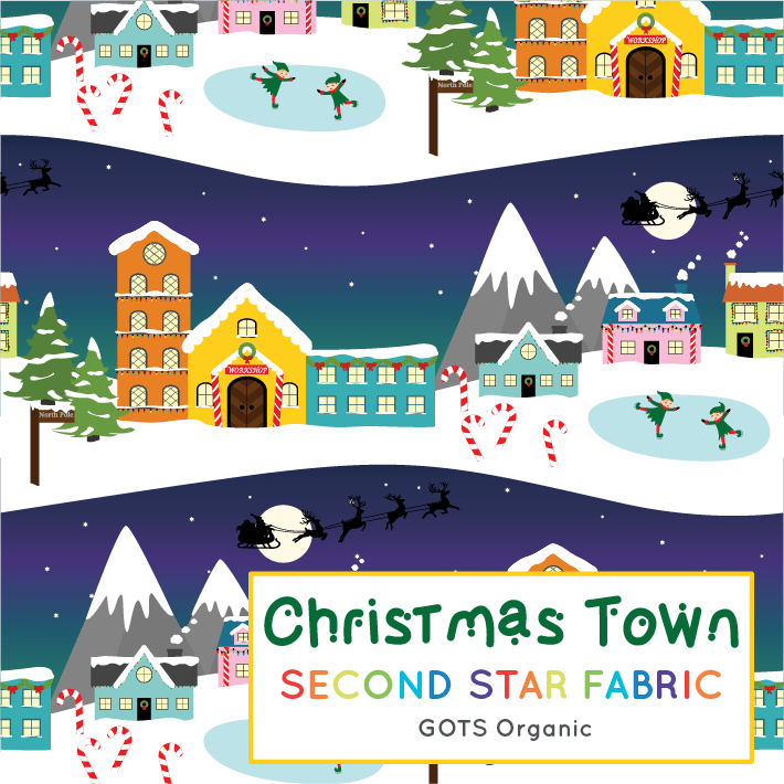 Christmas Town 2019.Sold Out For 2019 Christmas Town French Terry Sold By The Half Metre