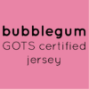 bubble gum pink organic jersey