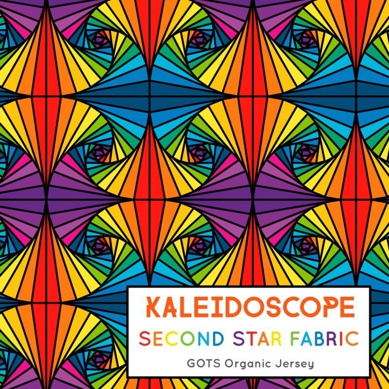 geometric rainbow fabric